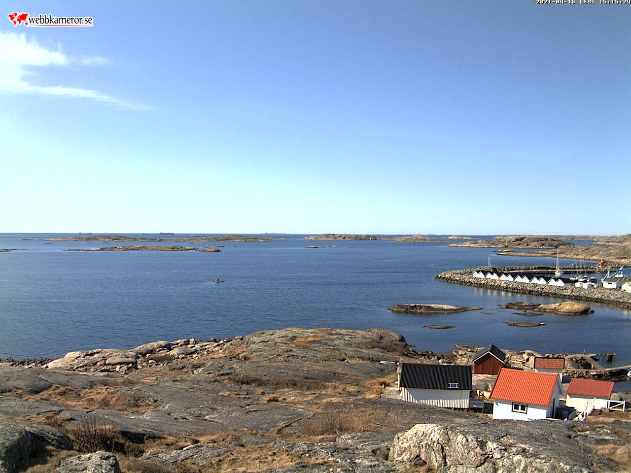 WebCam view North Varskär, Lökholmen and Måvholmen